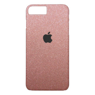 Rose Gold Glitter Themed Iphone 7 plus case