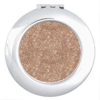 Rose Gold Glitter Vanity Mirror