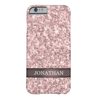 Rose Gold Glitter White Sparks Barely There iPhone 6 Case