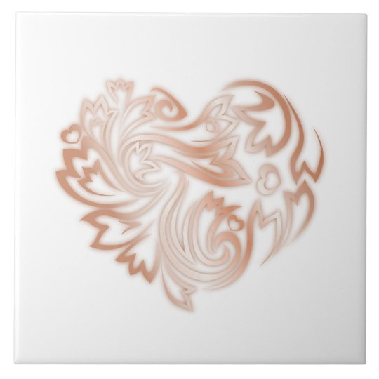 Rose Gold Heart Tile