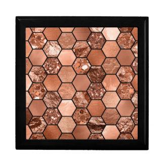 Rose gold hexaglam gift box