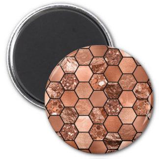 Rose gold hexaglam magnet