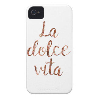 Rose gold La Dolce Vita iPhone 4 Case-Mate Cases
