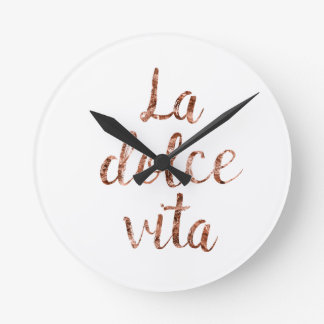 Rose gold La Dolce Vita Round Clock