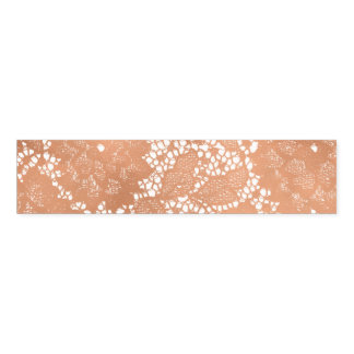 Rose Gold Lace & Floral Elegant Wedding Napkin Band