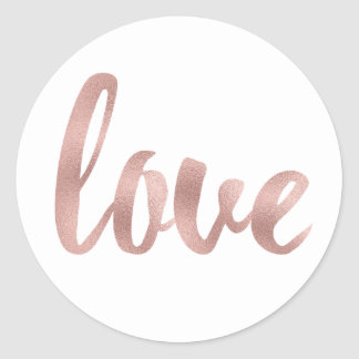 Rose gold love stickers