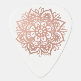 Rose Gold Mandala Guitar Pick