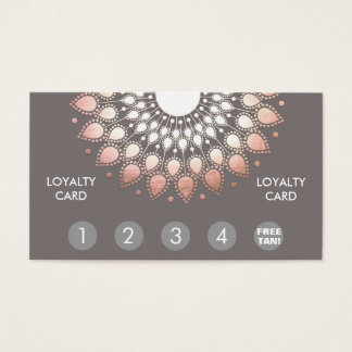 Rose Gold Mandala Spray Tan Loyalty Punch Business Card