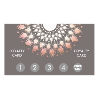 Rose Gold Mandala Spray Tan Loyalty Punch Pack Of Standard Business Cards