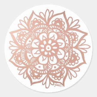 Rose Gold Mandala Sticker