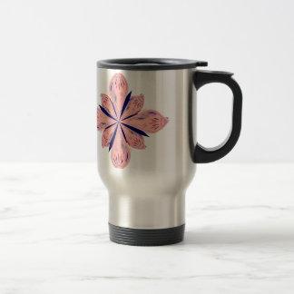 Rosé gold mandalas travel mug