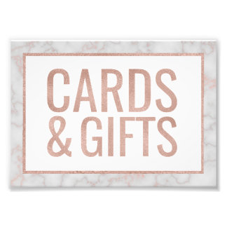 Rose Gold & Marble Cards & Gifts Photo Print