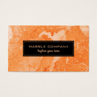 Rose-Gold Marble Stone Texture Business Card