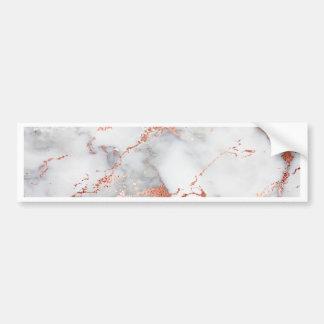 rose gold marble texture bumper sticker