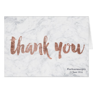 Rose gold marble thank you gift card navy blue2