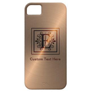 Rose Gold Monogram E iPhone 5 Cases