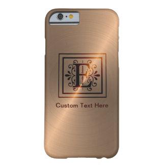 Rose Gold Monogram E iPhone 6 Case