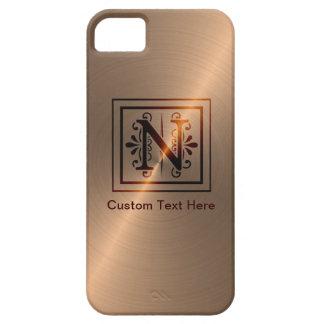Rose Gold Monogram N iPhone 5 Cases