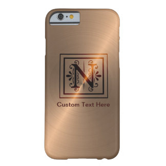Rose Gold Monogram N Barely There iPhone 6 Case