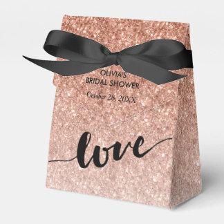 Rose Gold Ombre Glitter Love Favour Box