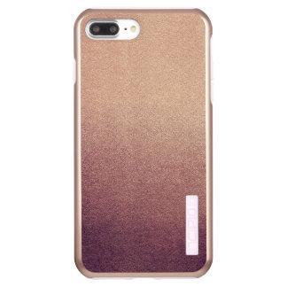 Rose Gold Ombre Glitter Sand Look Pink Incipio DualPro Shine iPhone 8 Plus/7 Plus Case