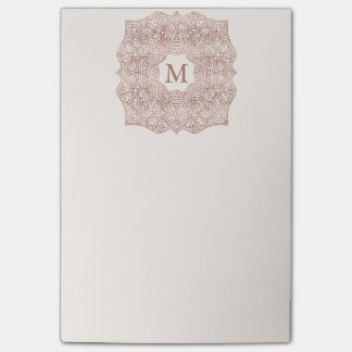 Rose Gold Personalized Monogram Post-it® Notes