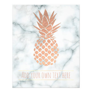 rose gold pineapple on marble flyer