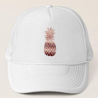 rose gold pineapple trucker hat