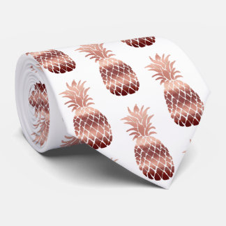 rose gold pineapples tie