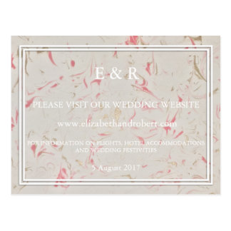 Rose Gold Pink Champagne Swirled Marble Postcard