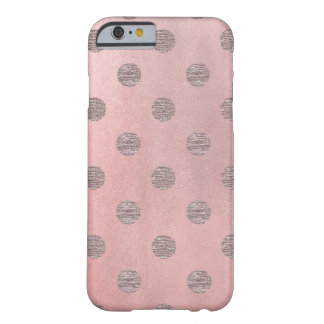 Rose Gold Pink Shine Glam Polka Dots Modern Chic Barely There iPhone 6 Case