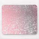 Rose Gold Pink Sparkle Luxury Trendy Glitter Mouse Pad