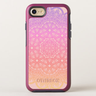 Rose Gold Rainbow Mandala OtterBox Symmetry iPhone 8/7 Case