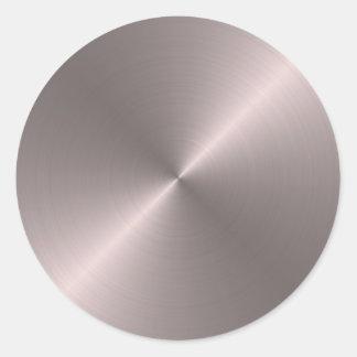 Rose Gold Round Sticker