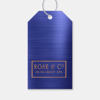 Rose Gold Sapphire Cobalt Blue Branding 3 Gift Tags