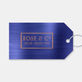 Rose Gold Sapphire Cobalt Blue Branding Gift Tags