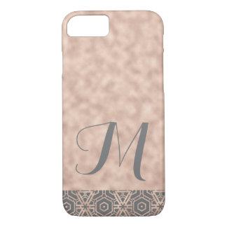 Rose Gold Shimmer Monogrammed Phone Case