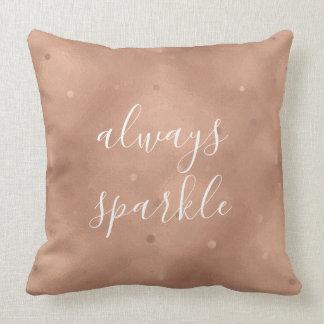Rose Gold Sparkle Cushion