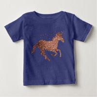 Rose Gold Sparkle Unicorn Top