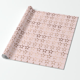 Rose Gold Stars Wrapping Paper