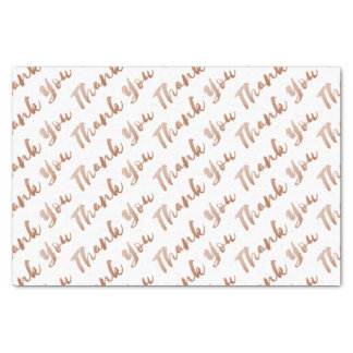 Rose Gold Thank You Tissue Brush Script Typography Tissue Paper