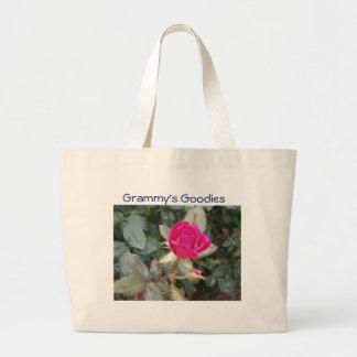 Rose, Grammy's Goodies Jumbo Tote Bag