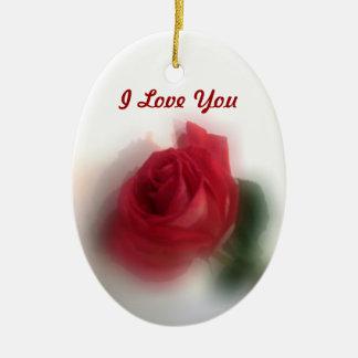 Rose Haze Dated Valentines Ornament