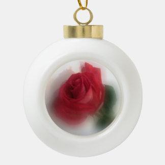 Rose Haze Ceramic Ball Decoration