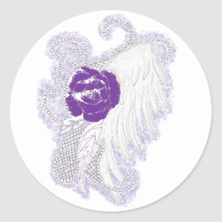 Rose Heart Purple Sticker