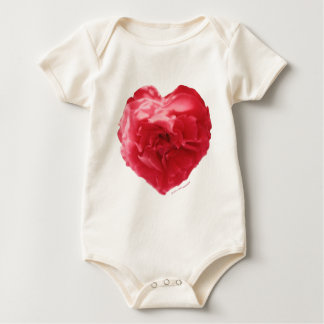 Rose Heart Red Infant Romper Baby Bodysuit