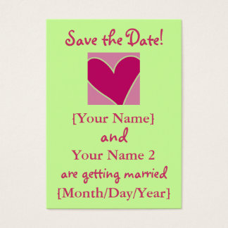 Rose Heart Save the Date Cards Template