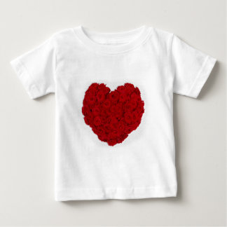 Rose heart shape baby T-Shirt