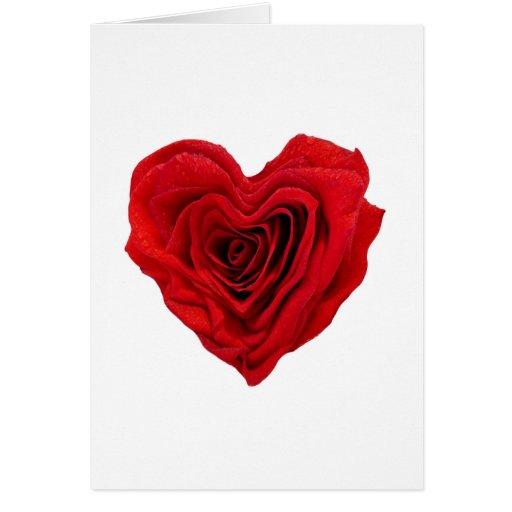 Rose Heart Shape - Greeting Card