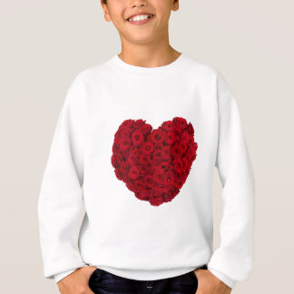Rose heart shape sweatshirt
